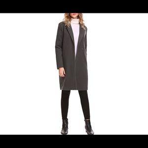 Dark gray long pea coat